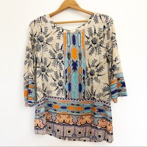 Maeve Anthropologie Sidney Silk Blouse Size 4
